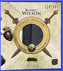 #114/150 Russell Wilson Rookie Jersey 2012 Topps Field Armor Patch Valor 1-owner