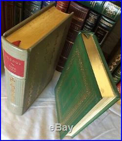 1970s Vintage Leather Book Collection, Signed Franklin Library Lot 85 Pieces