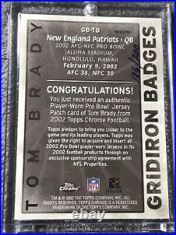 2002 Topps Chrome Tom Brady Gridiron Badges PATCH Refractor /200 AUTH GAME WORN