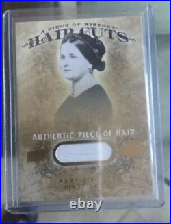 2008 Upper Deck Piece Of History Hair Cuts, First Lady Mary Lincoln, RARE