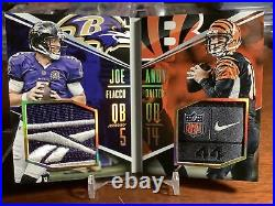 2016 Booklet Joe Flacco Andy Dalton Face To Face 1/1 1 Of 1 Logo Tag Patch