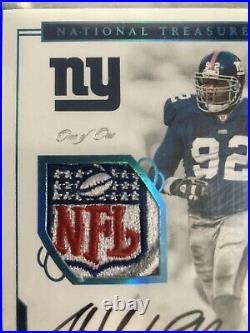 2016 National Treasures Michael Strahan NFL Shield Auto #1/1 Bgs 9 Autograph 1/1