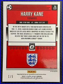2018-19 Panini Donruss Optic #123 Harry Kane Green Prizm Holo 1/5 Ssp England
