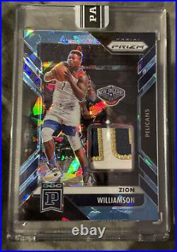 2020-21 Panini Prizm Basketball Zion Williamson 1/1 One Of One Patch