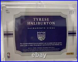 2020-21 TYRESE HALIBURTON National Treasures /49 Bronze Rookie Patch Auto RPA RC