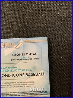 2020 Topps Diamond Icons Mike Trout Shohei Ohtani Dual Patch Auto #7/10 Angels