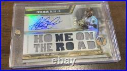 2020 Topps Triple Threads Fernando Tatis Jr. Relic Auto Autograph 14/18 Padres