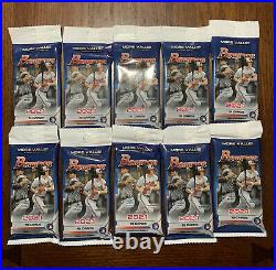 2021 Bowman Baseball Value Cello Fat Pack LOT OF 10 Factory Sealed