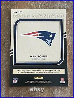 2021 Gold Standard Mac Jones Rpa Rc Triple Patch Gold Ink Auto /49 Ssp Patriots