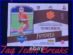 2021 Legacy Futures RC/RPA DOUBLE PATCH AUTO Trevor Lawrence Silver 9/50 Jaguars