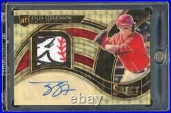 2021 Select Tyler Stephenson Rpa True 1/1 Gold Vinyl Rc Reds Logo Superfractor