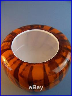 A Whitefriars Studio Art Vase Model S3 Orange Rare Scripted Piece Dated 1970