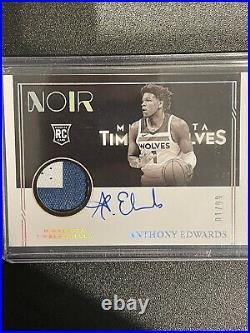 Anthony Edwards 2020-21 20-21 Panini Noir Rookie Patch Auto 1/99. 1/1 Jersey #