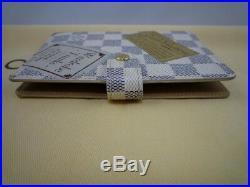 Authentic Louis Vuitton Limited Edition Damier Azur Patch Agenda PM Rare print