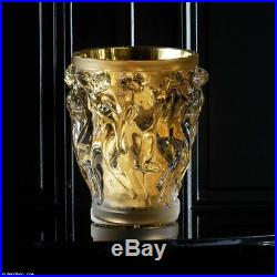 Bacchantes Grand Vase Limited Edition (90 Pieces) Clear Crystal With Gold Leaf 1