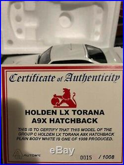 Biante 1 18 LX A9X Torana plain White limited of 1500 pieces