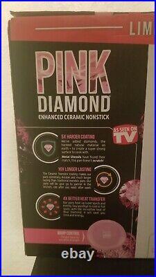 Blue Diamond Pan PINK LIMITED EDITION Cookware 11 Piece SET BRAND NEW NON STICK