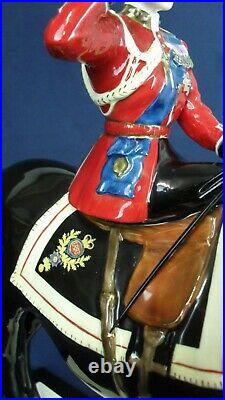 Coalport figure QUEEN ON HORSE TROOPING THE COLOUR ltd edt 250 pieces only