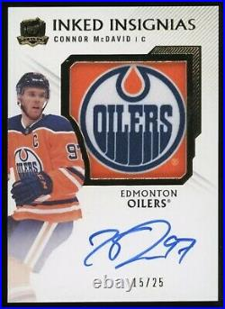 Connor McDavid the cup inked insignias ssp auto #d 15/25