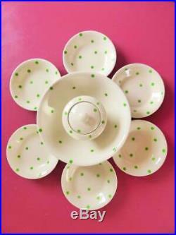 Cornishware T. G. Green & Co. Ltd Polka Dot Serving Set, 8 Pieces, Vintage 1930s