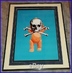 DEATH NYC ltd ed MISSING PIECE signed COA art print 16x20 baby skull framed NFS