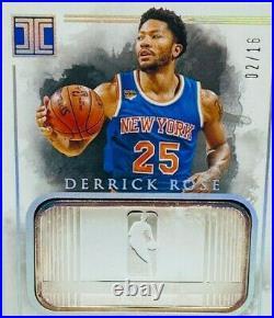 Derrick Ro 2016-17 Panini Impeccable NBA Logo Silver Troy Ounce Bar /16 SSSP