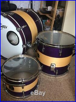 Drum Kit 3 Piece Gretsch Renown Maple Limited Edition Purple AND Hardcase Cases