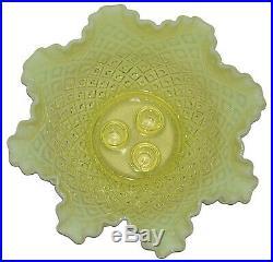 Fenton Diamond Lace Topaz Opalescent #4801 4 Piece Large Epergne Set
