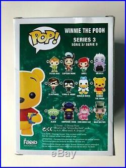 Funko Pop Disney Winnie The POOH FLOCKED SDCC 2012 Comic Con LE 480 Piece Ltd