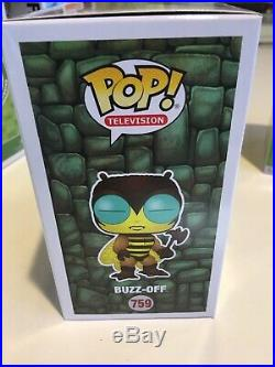 Funko Pop ECCC 2019 Convention Exclusive Lime Patch Kid, Buzz-Off, Bonus Ltd Pop
