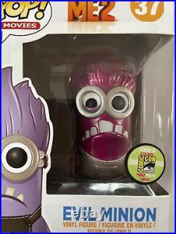 Funko Pop Evil Minion SDCC Exclusive. Despicable Me Limited Edition 480 piece