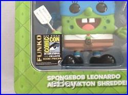Funko Pop Spongebob Leonardo SDCC 2014 LTD 1000 Pieces Rare Mint Condition