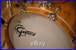 Gretsch USA Custom 3 Piece Bebop Drum Kit Limited Edition 1 Of 25 Red Gum Exotic