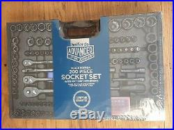 Halfords Advanced 200 Piece Limited Edition Socket & Ratchet Spanner Set Black