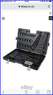 Halfords Advanced 200 Piece Socket Ratchet Set Limited edition Black incRECEIPT