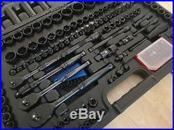 Halfords Advanced 200 Piece Socket & Ratchet Spanner Set Limited Edition Black