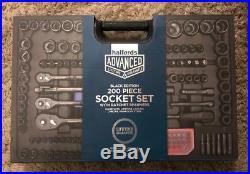 Halfords Advanced 200 Piece Socket & Ratchet Spanner Set-limited Edition Black