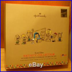 Hallmark 2015 PEANUTS set of 10 Piece Nativity Limited Edition See Description