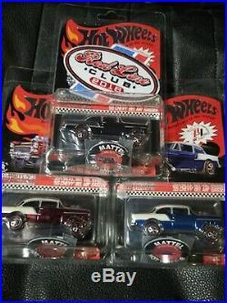 Hot Wheels 2016 RLC'55 Bel Air Gasser SET! Black, Red, Blue, Buttons, Patch