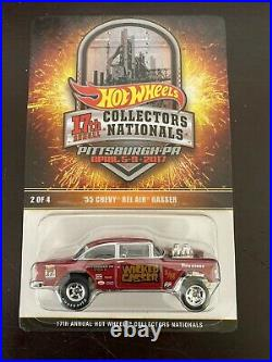 Hot wheels 17th Collectors National 55 Chevy Wicked Gasser With Patch Low #