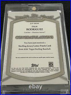 IVAN RODRIGUEZ 2021 Topps Sterling Letter Patch U Game-Used 1/1 Pudge Astros