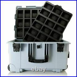 Invicta GREY 50 Slot Case Waterproof Shockproof Patch Multi Color Ltd Ed SuitCas