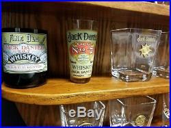 Jack Daniels Limited Edition 2002 18 Piece Shot Glass Set Original Oak Display