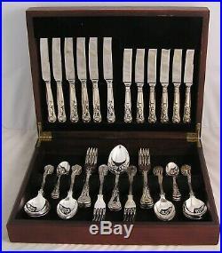 KINGS Design SMITH SEYMOUR LTD Silver Service 44 Piece Canteen of Cutlery