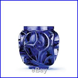 LALIQUE LIMITED EDITION TOURBILLONS VASE, SIGNED # 123 of 999 PIECES, NEW IN BOX