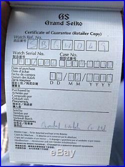 LNIB Grand Seiko Elegance SBGW049 Limited Edition Of 200 Pieces