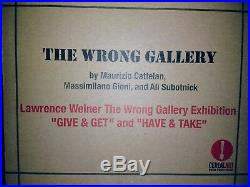 Lawrence Weiner'wrong Gallery' Ny Rare 2-piece Brass Stencils, Issued 2005