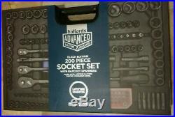 Limited Edition Black 200 Piece Socket Set Ratchet Spanners Breaker Bar Halfords