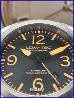 Lum-Tec M68 Automatic 44mm Sunburst Dial Limited Edition 175 Pieces Bracelet