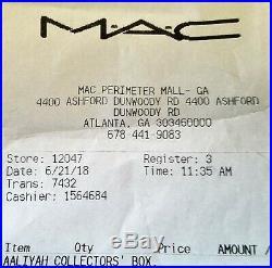 MAC Cosmetics Aaliyah Complete 12 Piece Vault Collection Makeup Set NIB Receipt